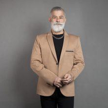 تک کت مردانه سایز بزرگ کاراملی
