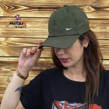 کلاه دخترانه آفتاب گیر نایک سبز لجنی