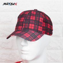 کلاه مردانه چهارخانه قرمز