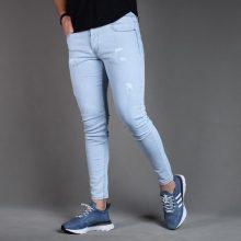 شلوار جین مردانه آبی روشن PULL&BEAR _کد ۳۴۵۳
