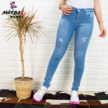 شلوار جین دخترانه آبی PLUS