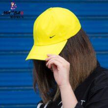 کلاه دخترانه آفتاب گیر نایک زرد _کد۸۴۲