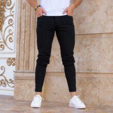 شلوار جین مردانه مشکی PULL&BEAR _کد ۳۴۵۱