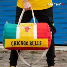 ساک ورزشی CHICAGO BULLS قرمز سبز