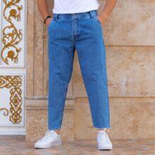 شلوار جین مردانه مام استایل آبی_کد ۳۸۸۴