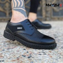کفش طرح دار مشکی MANGO_کد ۳۸۶۶