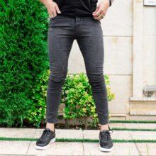 شلوار جین مردانه ذغالی_کد ۳۸۹۵