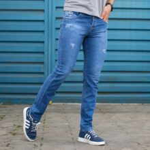 شلوار جین مردانه آبی VLONA_کد ۴۱۵۹